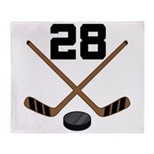 Hockey Player Number 28 Throw Blanket