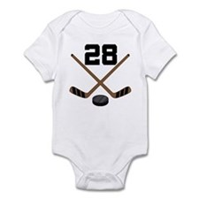 Hockey Player Number 28 Infant Bodysuit