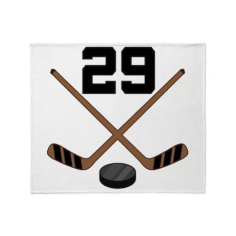 Hockey Player Number 29 Throw Blanket