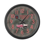 Pinkie's Diner Large Wall Clock