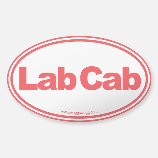 Lab Cab Sticker (Oval)