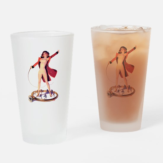 Pin-Up Girl Drinking Glass