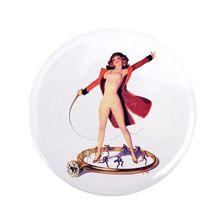 "Pin-Up Girl 3.5"" Button (100 pack)"