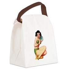 Pin-Up Girl Canvas Lunch Bag