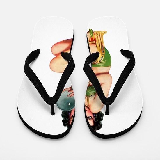 Pin-Up Girl Flip Flops