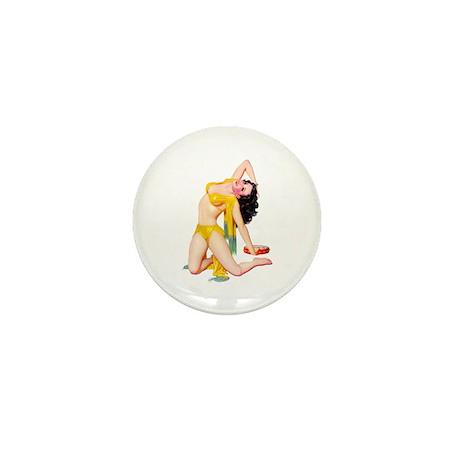 Pin-Up Girl Mini Button