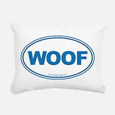 WOOF Rectangular Canvas Pillow
