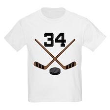Hockey Player Number 34 T-Shirt