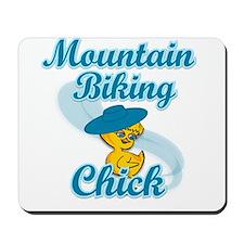 Mountain Biking Chick #3 Mousepad