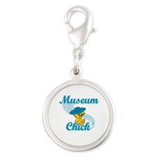 Museum Chick #3 Silver Round Charm