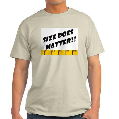 Ruler Size Does Matter Ash Grey T-Shirt