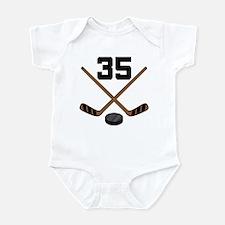 Hockey Player Number 35 Infant Bodysuit