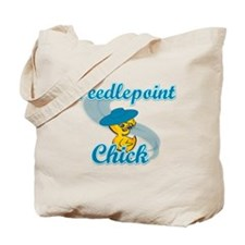 Needlepoint Chick #3 Tote Bag