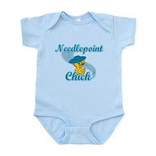 Needlepoint Chick #3 Infant Bodysuit