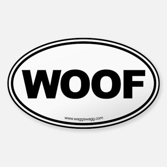 WOOF Sticker (Oval)