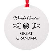 World's Greatest Great Grandma Ornament