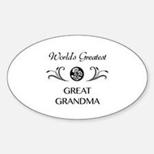World's Greatest Great Grandma Sticker (Oval)