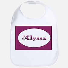 Alyssa: Pink Oval Bib