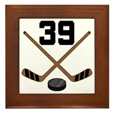 Hockey Player Number 39 Framed Tile