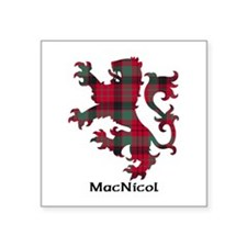 "Lion - MacNicol Square Sticker 3"" x 3"""