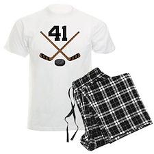 Hockey Player Number 41 Pajamas
