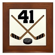 Hockey Player Number 41 Framed Tile