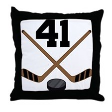 Hockey Player Number 41 Throw Pillow