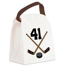 Hockey Player Number 41 Canvas Lunch Bag