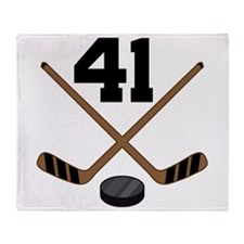 Hockey Player Number 41 Throw Blanket