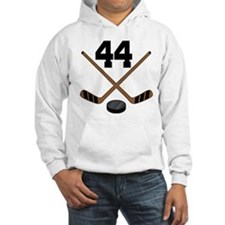 Hockey Player Number 44 Hoodie