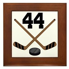Hockey Player Number 44 Framed Tile