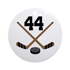 Hockey Player Number 44 Ornament (Round)