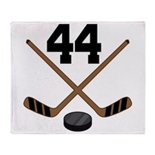 Hockey Player Number 44 Throw Blanket
