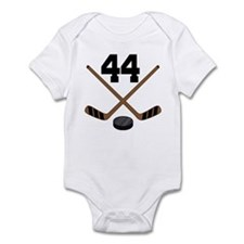 Hockey Player Number 44 Infant Bodysuit