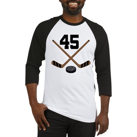 Hockey Player Number 45 Baseball Jersey