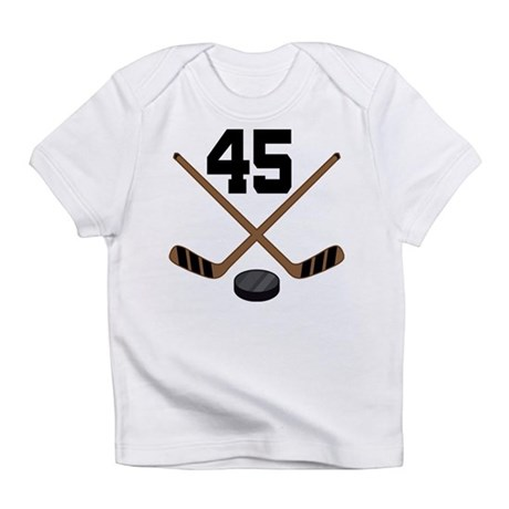 Hockey Player Number 45 Infant T-Shirt
