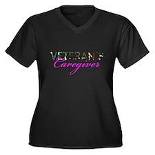 BDU Army Vet Caregiver Women's Plus Size V-Neck Da