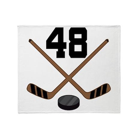 Hockey Player Number 48 Throw Blanket