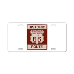Victorville Route 66 Aluminum License Plate