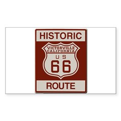 Victorville Route 66 Sticker (Rectangle 50 pk)