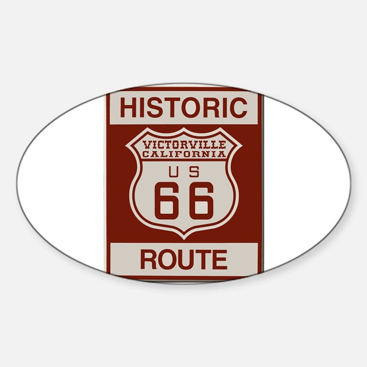 Victorville Route 66 Sticker (Oval)