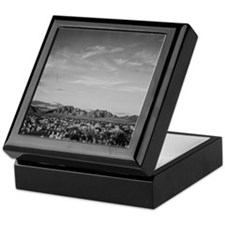 Ansel Adams Distant View of Mountains Keepsake Box