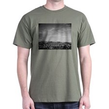 Ansel Adams Distant View of Mountains T-Shirt