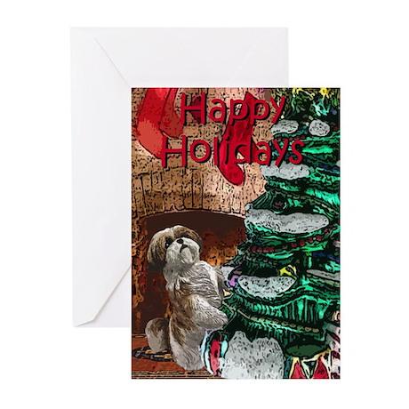 Shih Tzu Christmas Holiday Greeting Cards