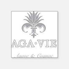 """AGA•VIE Logo Square Sticker 3"""" x 3"""""""