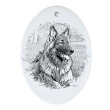 Cute Pawprint Ornament (Oval)