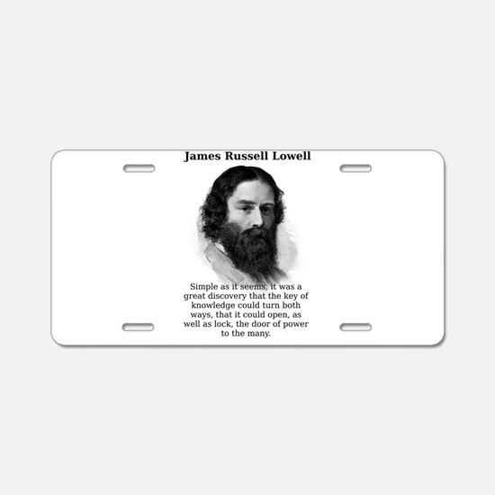 Simple As It Seems - James Russell Lowell Aluminum