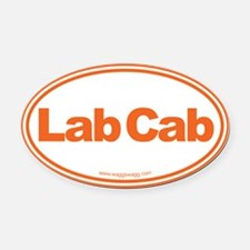 Lab Cab Oval Car Magnet