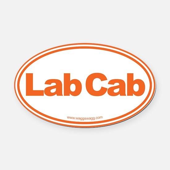 Lab Cab Oval Car Magnet