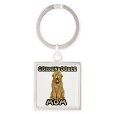 Goldendoodle Mom Square Keychain